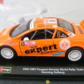 PEUGEOT 407 RALLYE 2006 SOLBERG 1/32 BURAGO - car-collector.net