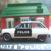 FASCICULE N°77 RENAULT 5 POLICE 1974 DECORATION PIE UNIVERSAL HOBBIES 1/43 - car-collector.net