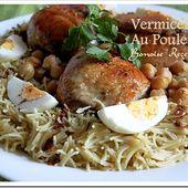 Plat algerien / vermicelle au poulet