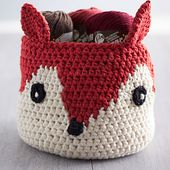 Foxy Stash Basket pattern by Lily / Sugar'n Cream