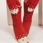 0-1217 Miss Fox Mittens pattern by DROPS design