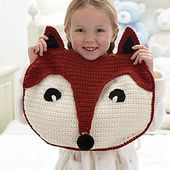 Foxy PJ Pillow pattern by Bernat Design Studio