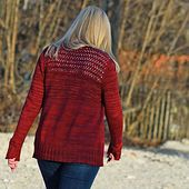 Red Eyelets on Tuesday pattern by Christina Körber-Reith