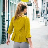 Pleated Cardigan pattern by Kat Goldin
