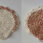 Speckled Hen Potholder pattern by Christine Ciliberto