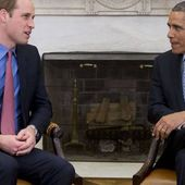 Barack Obama reçoit le prince William dans le Bureau ovale