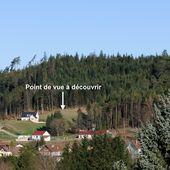 BRUYÈRES-VOSGES : Point de vue à découvrir sur BRUYÈRES et la Vallée de la Vologne