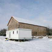 031 - Grand froid &amp&#x3B; Emission TV sur notre grange - Rénovation d'une grange en maison d'habitation (grange de Gabillou)