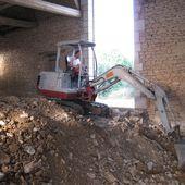 041 - Décaissage intégral ! - Rénovation d'une grange en maison d'habitation (grange de Gabillou)