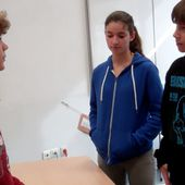 Buying an ice-cream - continued - (role-play in the classroom with Antoine, Basile and Julia)
