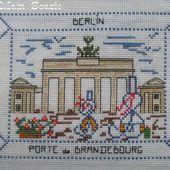 Carte brodée de Berlin, de Mamigoz - Chez Mamigoz