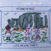 Carte brodée de Stonehenge par Mamigoz - Chez Mamigoz