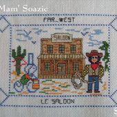 Carte brodée : le Far-West, chez Mamigoz - Chez Mamigoz