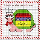 Plaid Tortues brodées : Tortues Pizza-Bus, Atout Coeur et Breizh en Fête - Chez Mamigoz