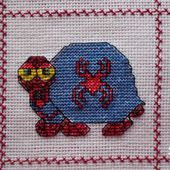 Plaid Tortues brodées : Tortue Spiderman - Chez Mamigoz