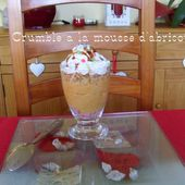 Mousse d'abricot en crumble de Mamigoz - Chez Mamigoz