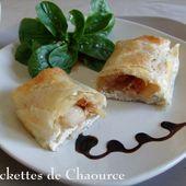 Brickettes de dindonneau au Chaource et poire de Mamigoz - Chez Mamigoz