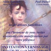 Vernissage de la Biennale Internationale de Pastel Grand Sud