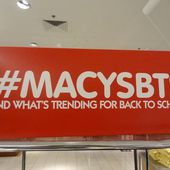Les Plus de Back to school (8) : Le plus 'twitterisé' : Macy's