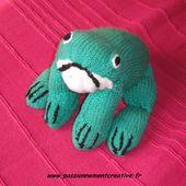 Tutoriel Tricot - une grenouille - Passionnement Créative