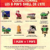 PUBLICITE: COLLECTION 8 PINS SHELL ETE 1991 - car-collector.net