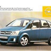 CARTE POSTALE OPEL CONCEPT M SALON AUTO DE GENEVE 2002 - car-collector.net