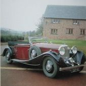 CARTE POSTALE BENTLEY 1935 3,5 LITRES 6 CYLINDRES 3500 CM3 110CV - car-collector.net