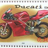 TIMBRE POSTE FRANCE 2002 MOTO SPORTIVE DUCATI 916 - car-collector.net