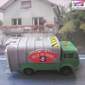 218-B MERCEDES CAMION POUBELLES VILLE DE PARIS MAJORETTE 1/100 - car-collector.net