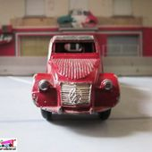 CITROEN 2CV 1951 PEINTURE BORDEAUX DINKY TOYS MECCANO FRANCE - car-collector.net