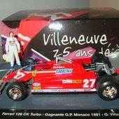F1 FERRARI 126 CK GILLES VILLENEUVE MONACO 1981 1/43 BRUMM - car-collector.net
