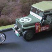 FASCICULE N°12 DIORAMA JEEP WILLYS MD38 1951 - LA COURSE CYCLISTE - L'ESTEREL - car-collector.net