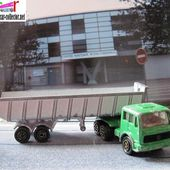 CAMION BENNE MERCEDES SEMI REMORQUE MAJORETTE 1/100 - car-collector.net