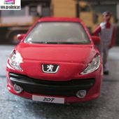 PEUGEOT 207 BURAGO STREET FIRE 1/43 PEINTURE ROUGE - car-collector.net