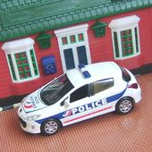 PEUGEOT 308 2008 POLICE NATIONALE JET CAR NOREV 1/43 - car-collector.net