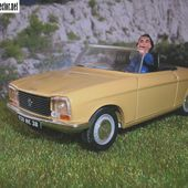 PEUGEOT 304 CABRIOLET 1972 AQUAVIT 1/43 - car-collector.net