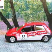 RENAULT CLIO 16S TOUR DE CORSE 1991 PHILIPS CAR STEREO SOLIDO 1/43 - car-collector.net