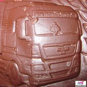 TABLETTE DE CHOCOLAT CAMION MAN CADEAU FETES DE FIN D'ANNEE - car-collector.net