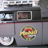 VW COMBI PICKUP 1963 DOUBLE CABINE PINBALL JADA 1/24 LIMITED EDITION - car-collector.net