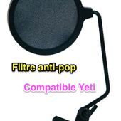 Choix du Filtre anti-pop compatible Microphone Yeti - Yes I Will