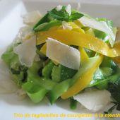 Salades de courgettes muti-couleurs... - LE BONHEUR EST DANS L'ASSIETTE