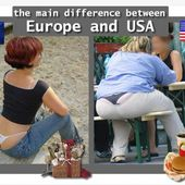 Humour String coquin: Europe vs USA