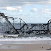 Photo Ouragan Sandy: Le grand Huit de New Jersey échoué à la mer - Doc de Haguenau