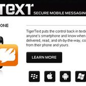SMS - TigerText: Messages auto-effaçables?