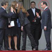 Photo Insolite: François Hollande scrute les fesses de Carla Bruni-Sarkozy