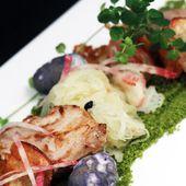 Courge façon choucroute - perdreau, betterave mammouth et ocas - Philou - Un Cuisinier chez Vous