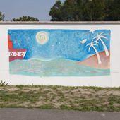 Ma première fresque avec les enfants de l'Ecole de Courbillac ! - Le blog de Marie BAZIN : artiste peintre, chanteuse, graphiste