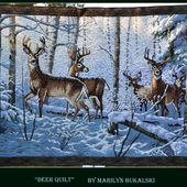 'Woodland deer quilt' by Marilyn Bujalski