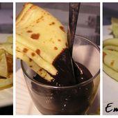 Crêpes coco, citron et sauce au chocolat ...