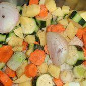 Soupe poireaux, carottes, courgettes, pommes de terre.